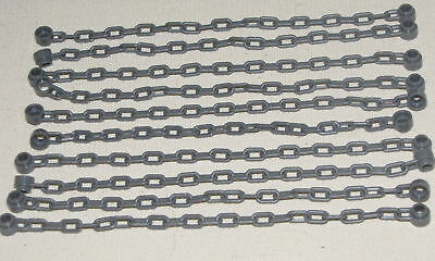 LEGO LOT OF 10 DARK BLUISH GREY CASTLE CHAINS CHAIN LINKED