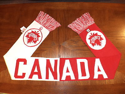 HBC 2011 OLYMPIC PARALYMPIC Team Canada RED & WHITE CANADA SCARF Adult O/S NWT