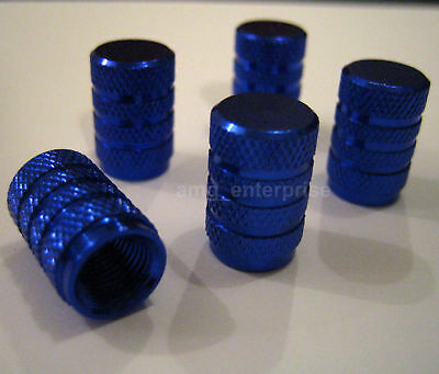 ALL Blue Alloy Dust Valve Caps for Chevrolet Matiz Lacetti Splash Kalos Cruze