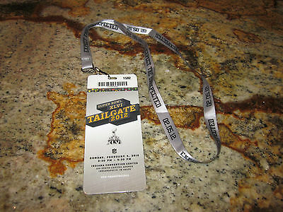 SUPERBOWL 46 SUPER BOWL XLVI 2012  TAILGATE PARTY HARD PLASTIC TICKET AUTHENTIC (Superbowl Parties)