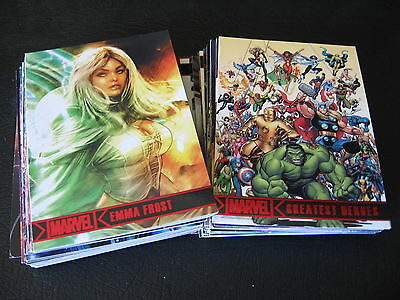 2012 MARVEL GREATEST HEROES COMPLETE COMIC TRADING CARD SET , XMEN