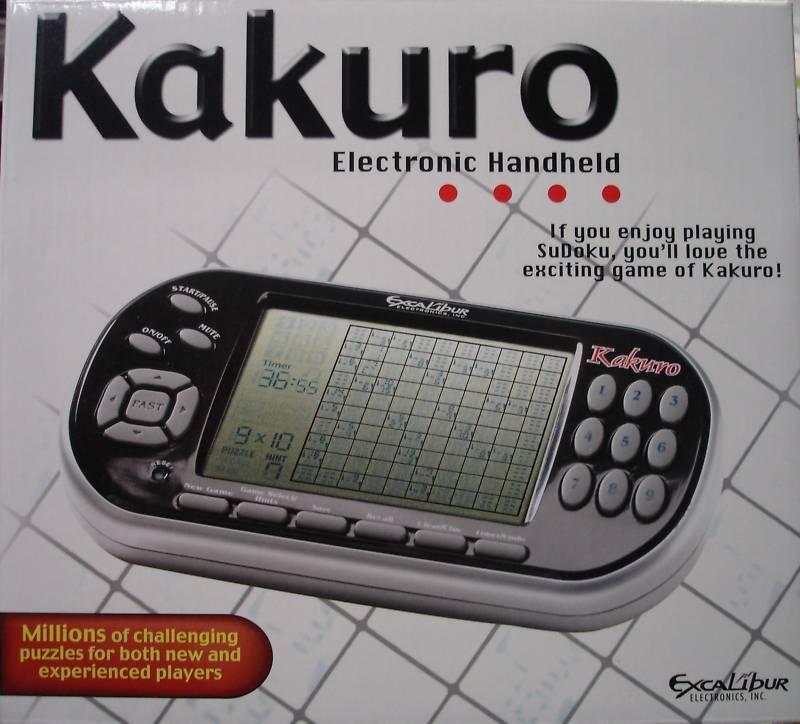 Excalibur 486 Kakuro Handheld Electronic Crossword ...