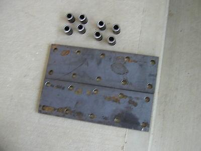2 Farmall M H Sm Hv 460 Ih Tractor 10 Hole Fender Extension Bracket Plates S