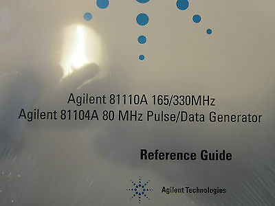 Agilent 81110a And Agilent 81104a Generator Reference Guide Still In Plastic
