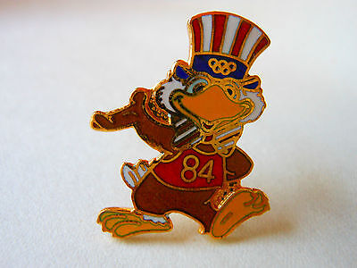 Olympic PIN Vintage '84 SAM the Mascot Waving Classic Cloisonne Americana Hat