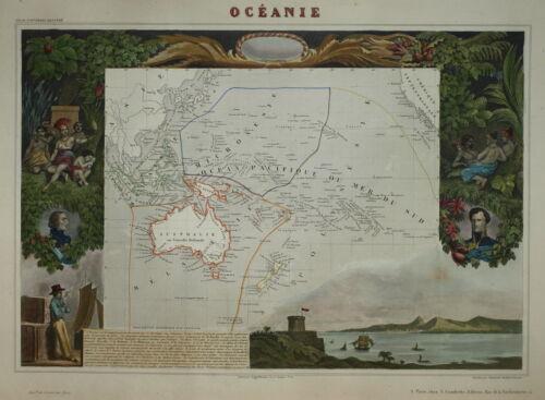 LEVASSEUR - AUSTRALASIA - OCEANIE 1854.