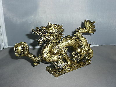 DRAGON  Asian Dragon      Goldtone