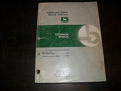 John Deere 5400n 5500n Narrow Tractor Technical Service Repair Manual