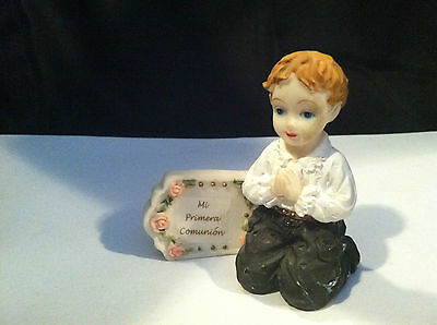 VINTAGE MI PRIMERA COMUNION FIRST COMMUNION #1 BOY FIGURINE GIFT PRESENT](First Communion Present)