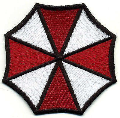 """Resident Evil Umbrella Corporation Fully Embroidered  3.75"""" Iron-on Patch"""