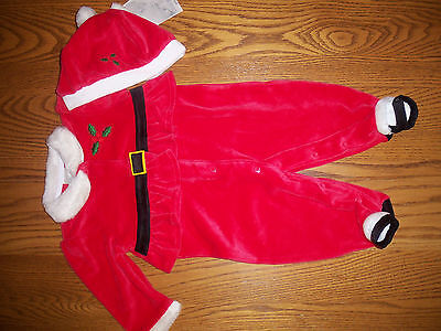 LITTLE WONDERS CHRISTMAS BABY GIRL SANTA OUTFIT W/ HAT SIZE 3-6 MONTHS NEW W/TAG Baby Santa-outfit