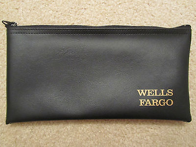 Wells Fargo Bank Deposit Bag  Money Bag  With Zipper    Brand New