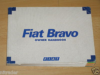 Fiat Bravo Owner's Manual Handbook 1996 - 2001 Model  FREE UK POSTAGE