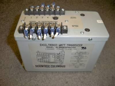Scientific Columbus Xl342k5pan7a4 3 Element Watt Transducer 0-1500 Watts