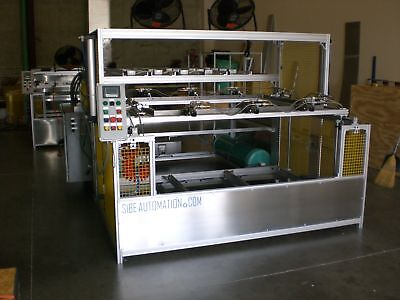 Sibe Automation Vacuum Former 48x60 Top-bottom Heaters Thermoforming Plc Auto