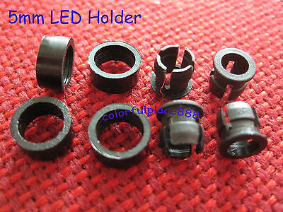 500 Sets 5mm Plastic Abs Led Bezel Holder Panel Display Clip Holders With Ring