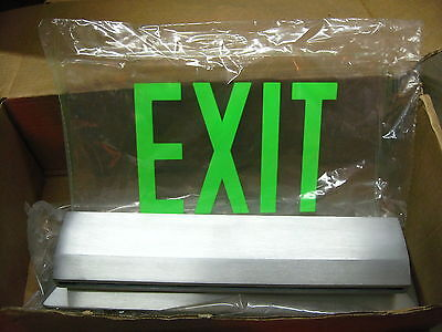 Isolite Elite Elt Series Die Cast Aluminum Led Edgelit Exit Sign Lime Green J-3