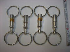 Lot 4 Detachable Pull Apart Quick Release Keychain Key Rings/ US Free Shipping