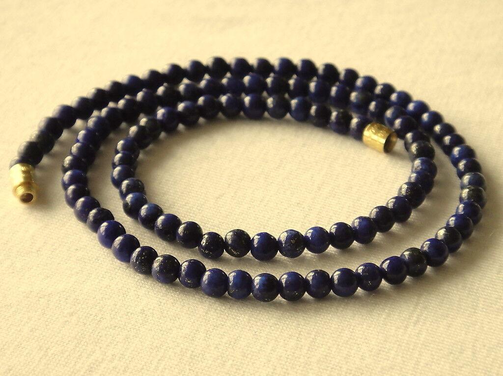 Blue Lapis Lazuli 4mm Round Beads 16