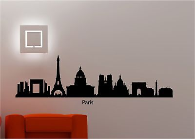 AMAZING CITY SCAPE WALL ART PARIS STICKER VINYL SKYLINE