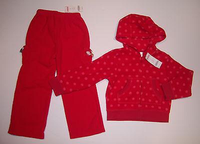 NWT Gymboree Cupcake Cutie 5/5T Red Polka Dot Fleece Hoodie & Pants
