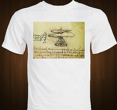 Leonardo Da Vinci Flying Machine - Helicopter invention drawing T-shirt Da Vinci Flying Machine