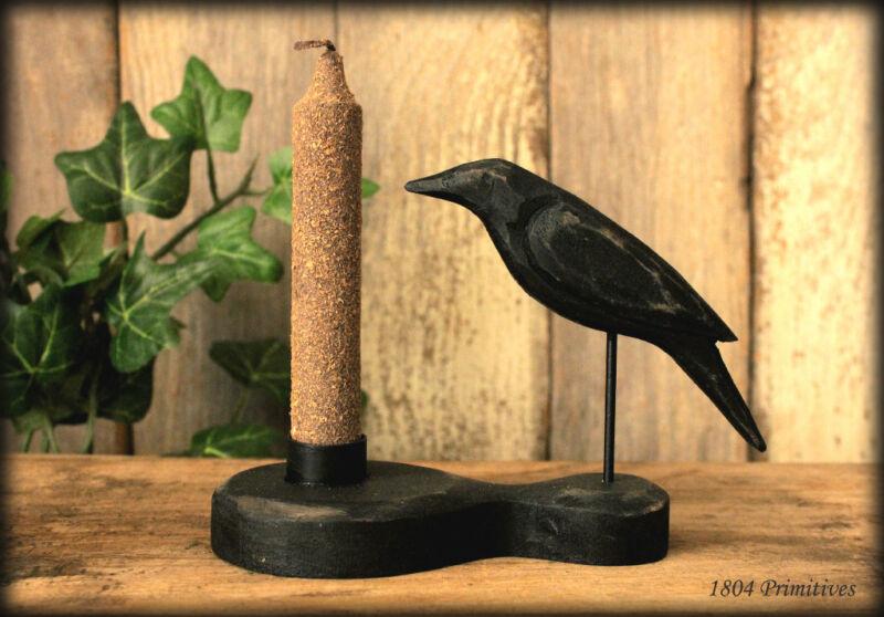 Primitive Crow & Grungy Candle Set