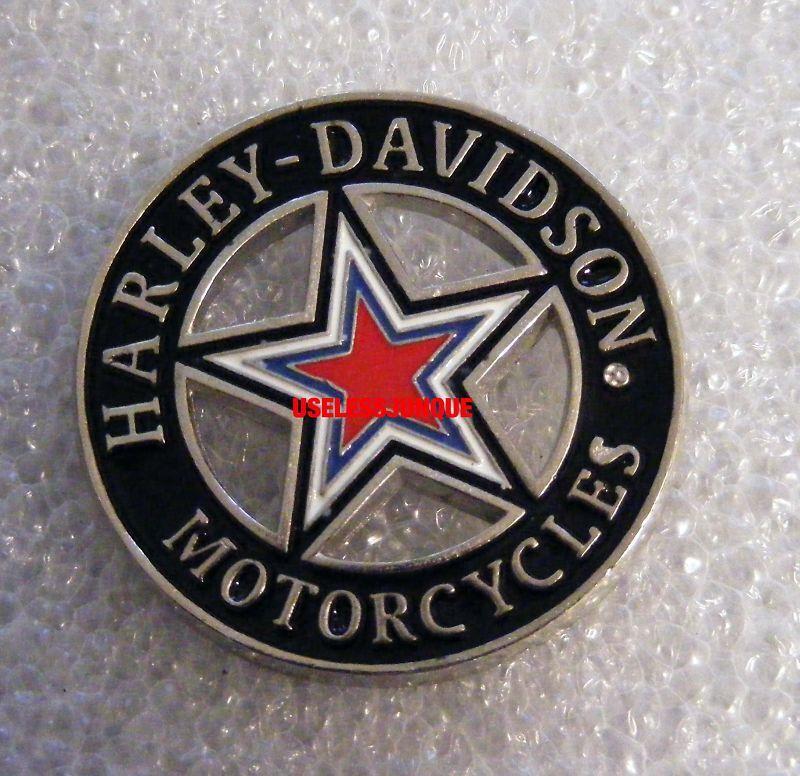 Harley Davidson Biker  ENAMEL COLORS 5 POINT STAR PIN