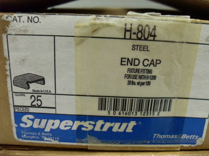 "25 T&B SUPERSTRUT H-804 END CAPS  1-5/8"" Wx 3-1/4"" Deep STRUT UNI-STRUT NIB"