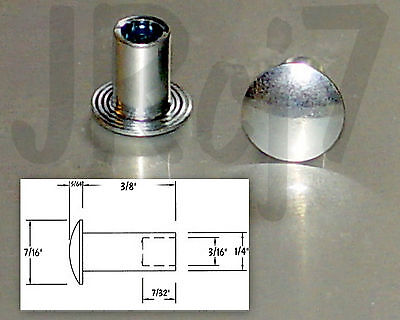 X50pcs 14 X 38 Steel Semi Tubular Rivets - 716 Head