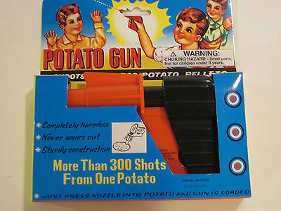 Plastic Potato Gun - Shoots Safe Potato Pellets, Outdoor Play Toy Summer Camping