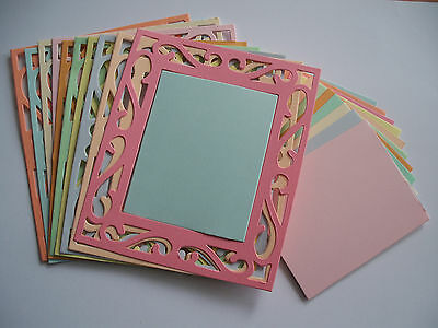 10 SIZZIX DIE CUT ORNATE FRAMES  = 10 EDGES & 10 CENTERS  160gsm card stock