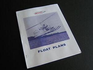 Vintage Float Plans for Bensen Gyrocopter Model B-8 & Gyro-Glider 9 pgs + 2 dwgs