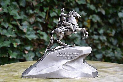 Peter I Skulptur Russland UdSSR Sowjetunion Figfur Metall