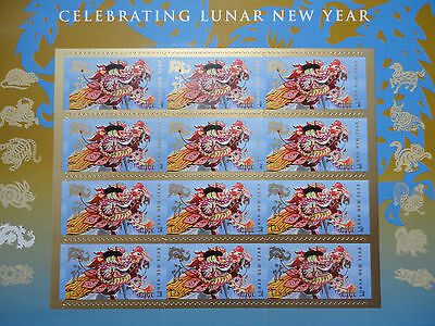 New 2012 Lunar Year of the Dragon Sheet of 12 Stamps(Forever)  US Postage