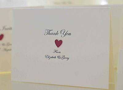 Personalised Handmade Wedding Thank You Cards