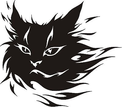 20cm Aufkleber Autoaufkleber Katze Tribal Tattoo Folie Folienaufkleber Cartattoo