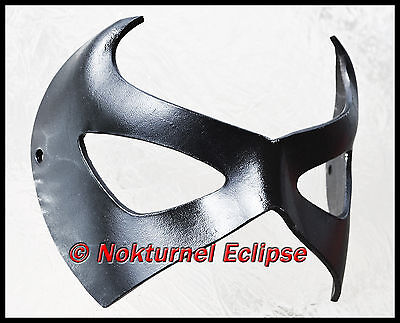BLACK Robin Superhero Leather Mask Batman Gotham Geek Halloween Costume UNISEX - Robin Costume Mask
