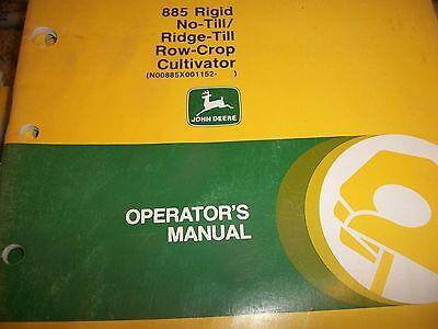 John Deere Operators Manual 885 Rigid No-tillridge-till Row-crop Cultivator