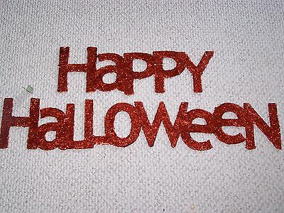 Happy Halloween Glitter Letters Sign BIG Decoration Banner NEW - Happy Halloween Glitter Sign