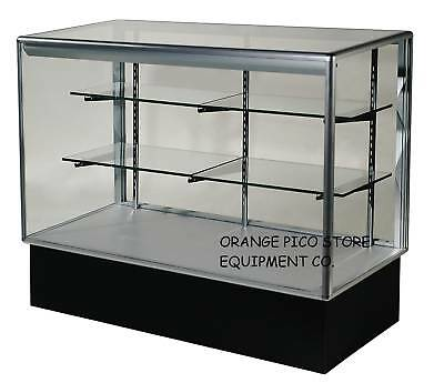 Brand New 4 Aluminum Frame Glass Display Show Case