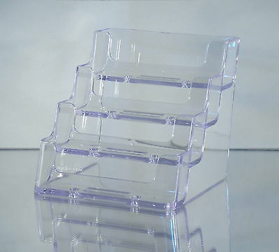 Clear Deflect-o Style 4-pocket Acrylic Business Card Holder Singles