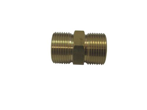 European Hose Coupler M22 x M22 14mm x 15mm Fits Most Hoses W/ Screw On Couplers