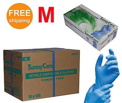 Sunnycare 1000cs Nitrile Disposable Gloves Powder Free Latex Free Sizemedium