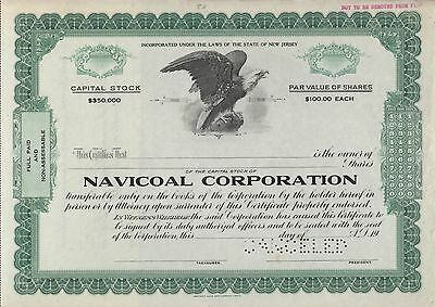 Navicoal Corporation  Capital Stock Cancelled Certificate Bn7073