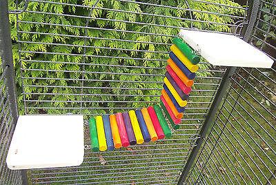 Shelves with log bridge/ramp Accessory Toy rat degu chinchilla chipmunk cage
