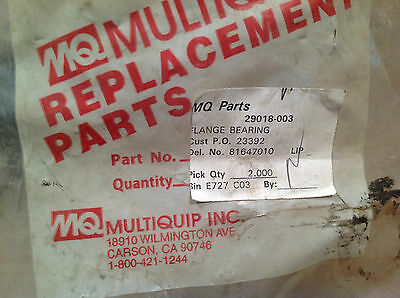 Multiquip 29018-003 Flange Bearing Concrete Surface Grinder Part