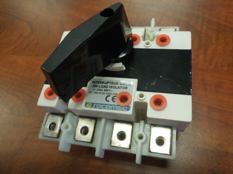 Socomec Sirco 125a 660v On Load Isolator Non-fused Switch