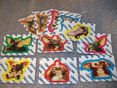 GREMLINS - Complete Sticker Set - all 11 stickers    GIZMO! ++