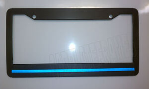 Blue Line License Plate Frame thin REFLECTIVE police